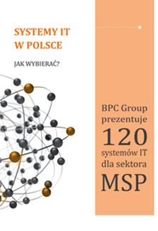 """Książka Bpc Group pt. <p><strong>BPC Group prezentuje 120 systemów IT dla sektora MSP.</strong></p>  <p>Publikację książkową pt. """"Systemy IT w Polsce: jak wybierać?"""" dedykujemy przedsiębiorstwom<br /> sektora MSP.</p>  <p>Pozycja zawiera m.in.</p>  <ul> <li>katalog ponad 120 rozwiązań informatycznych wspierających zarządzanie, które znajdują zastosowanie w zarządzaniu przedsiębiorstwem MSP;</li> <li>wskazówki konsultantów BPC Group – jak prawidłowo opracować zapytanie ofertowe;</li> <li>praktyczne porady dotyczące wyboru systemów IT, sporządzone przez przedsiębiorców i dostawców zaangażowanych w procesy wyboru oraz wdrażania systemów w przedsiębiorstwach.</li> </ul>"""
