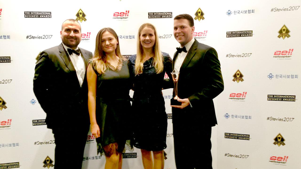 Zarząd firmy HansaWorld podczas gali Stevie Awards